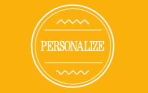 Personalize Button